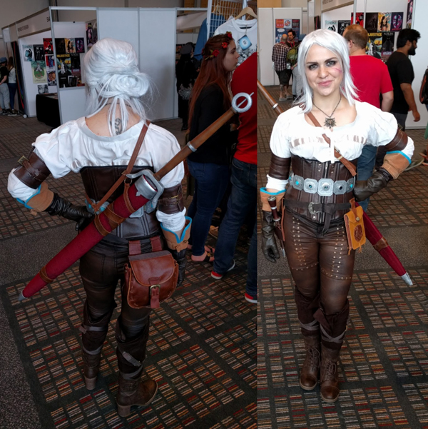 Ciri cosplay at FanCon 2017