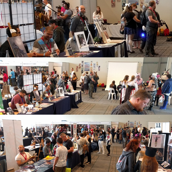 Artist alley day 3 at FanCon 2017