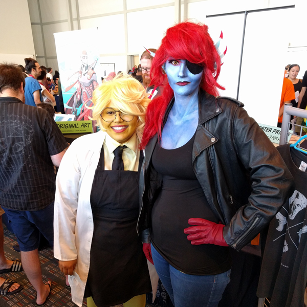Undyne and Alphys cosplay at FanCon 2017
