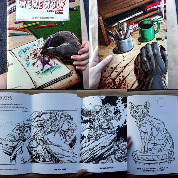 Werewolf Colouring Book by Ben Geldenhuys